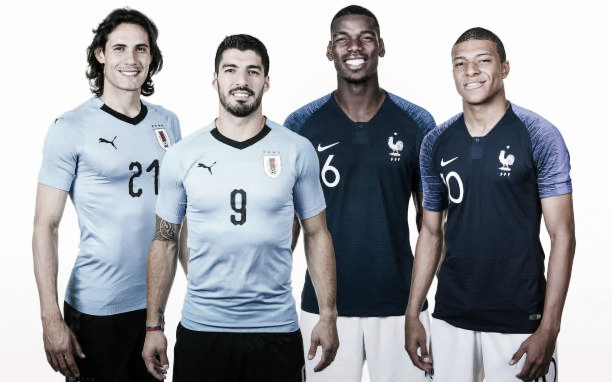 O que esperar de Uruguai e França pelas quartas de final da Copa do Mundo