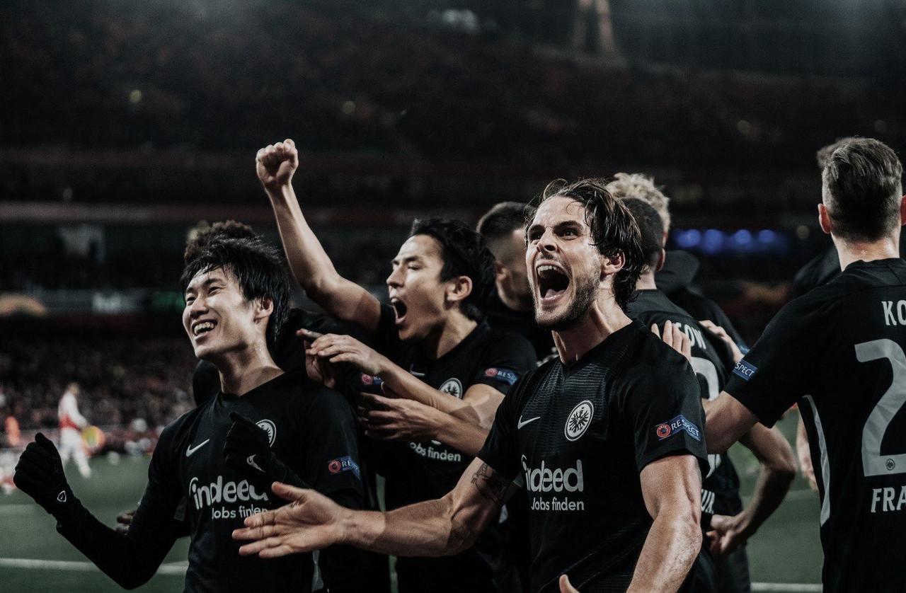 Vitória do Frankfurt e empate do Standart Liège embolam disputa no grupo F da Europa League