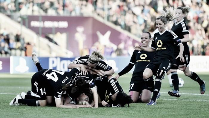 1. FFC Frankfurt (1) 0-1 (1) FC Rosengård (Frankfurt win 5-4 on pens): Champions outlast Swedes to sneak through to semis