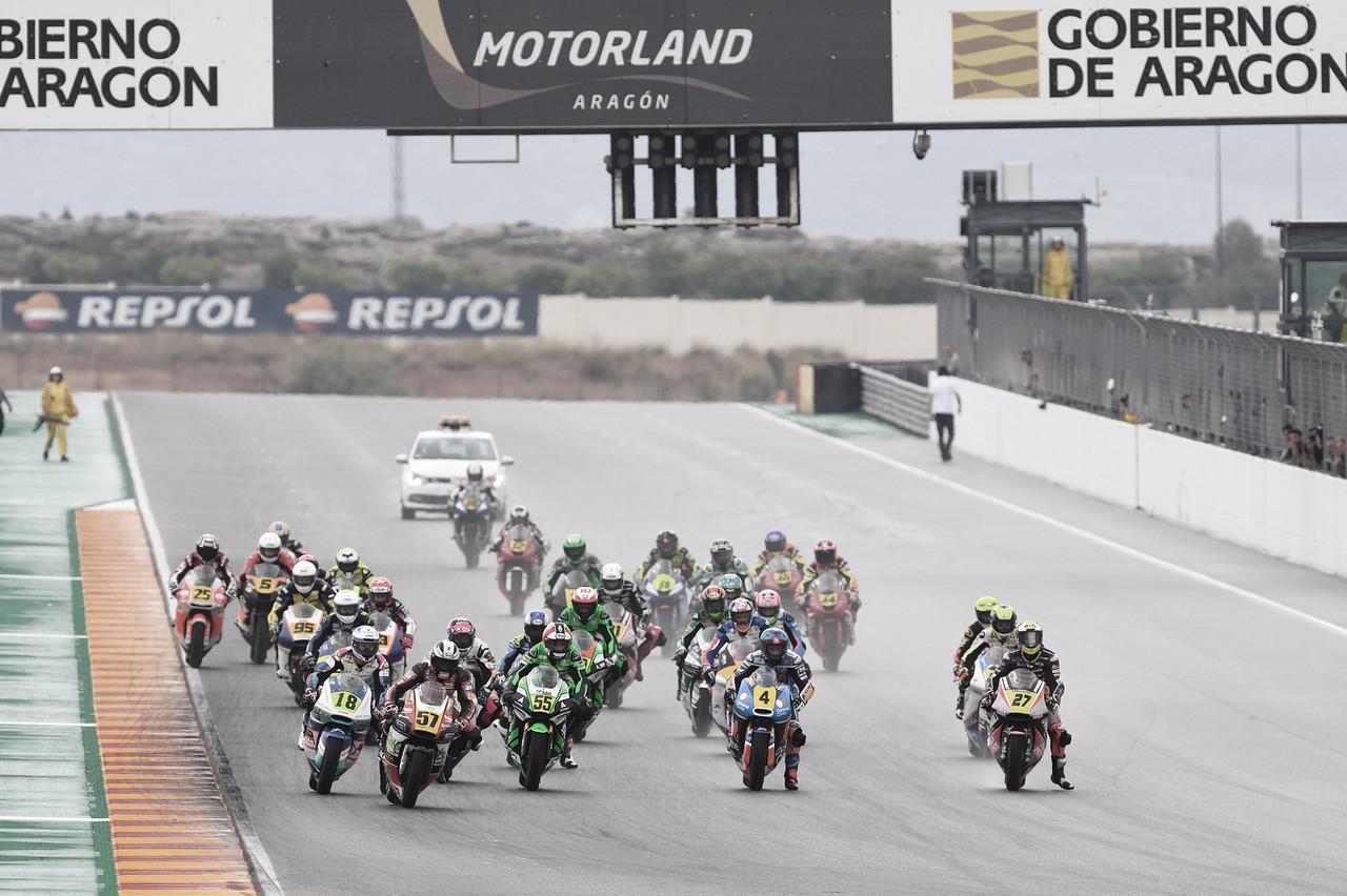 CEV Aragón 2020: Montella insuperable, España al mando en Moto3 y sorpresas en HETC