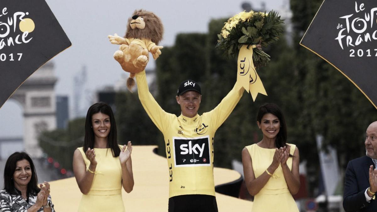 Chris Froome, en duda para el Tour de Francia 2018
