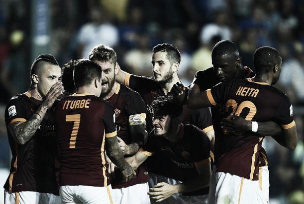 Roma bate Frosinone no retorno de Totti à titularidade e amplia série invicta