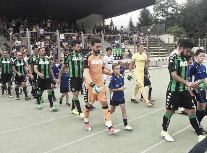 Sassuolo, è 1-1 contro l'Eintracht Francoforte: Matri-goal per il pareggio