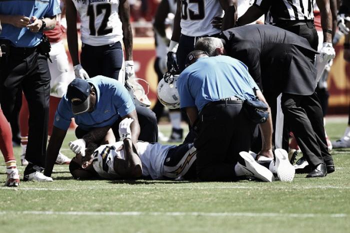 No primeiro jogo dos Charges, Kenaan Allen rompe ligamentos e está fora da temporada da NFL