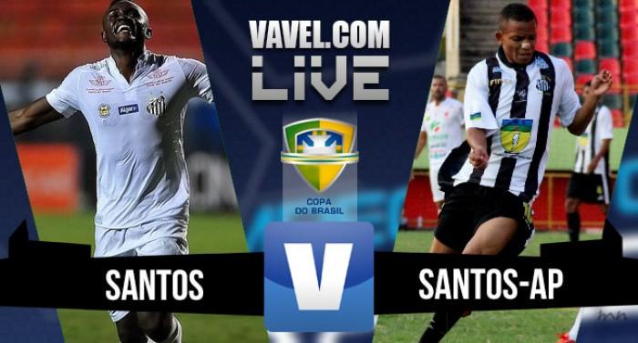 47b2475a45 Resultado Santos x Santos-AP na Copa do Brasil 2016 (3-0) - VAVEL.com
