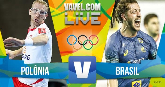 Jogo Polônia x Brasil no handebol masculino dos Jogos Olímpicos