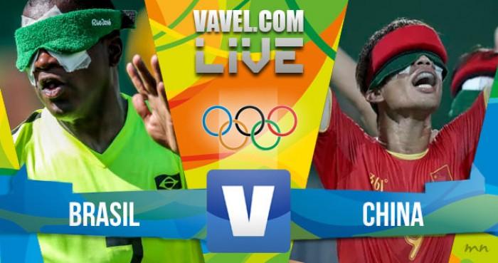 Resultado do jogo Brasil x China no Futebol de 5 dos Jogos Paralímpicos (2-1)