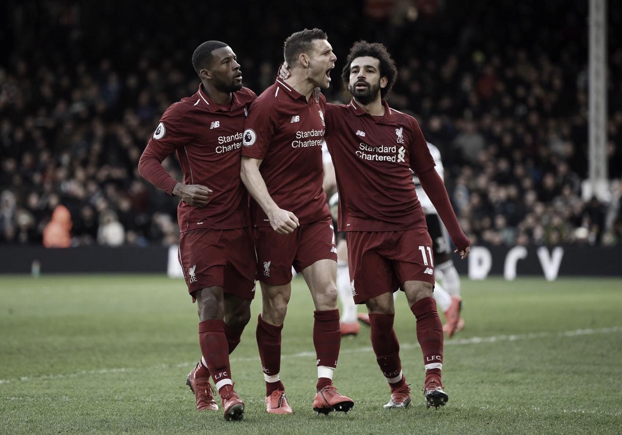Liverpool derrota Fulham e assume liderança da Premier League de maneira provisória