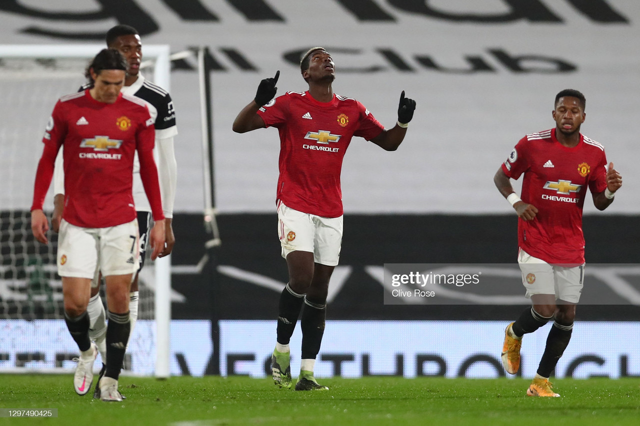 Fulham 1-2 Manchester United: Pogba fires United to top of the table