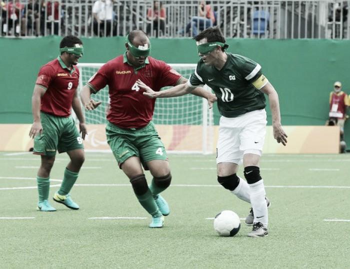 De virada, Brasil bate Marrocos na estreia do Futebol de 5 masculino nos Jogos Paralímpicos