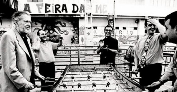 Alejandro Finisterre, inventor del Futbolín