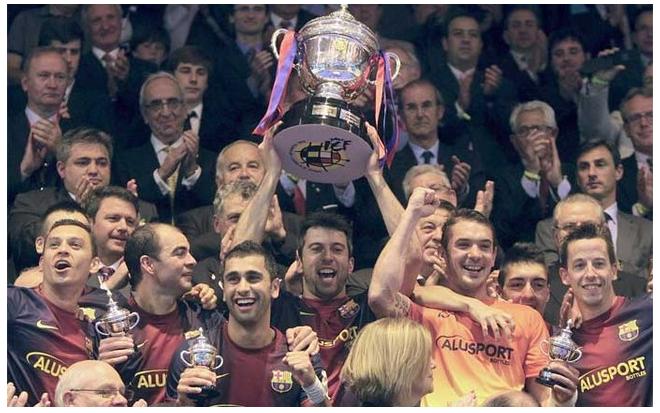 Barcelona conquista Copa do Rei da Espanha de Futsal