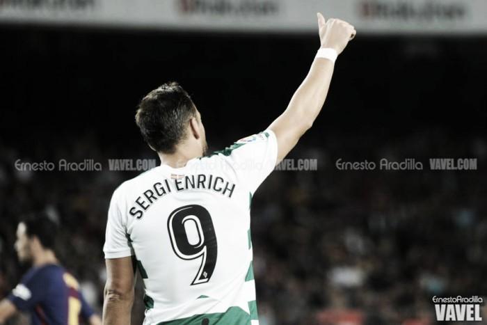 Sergi Enrich, la ausencia más remarcable ante el Málaga
