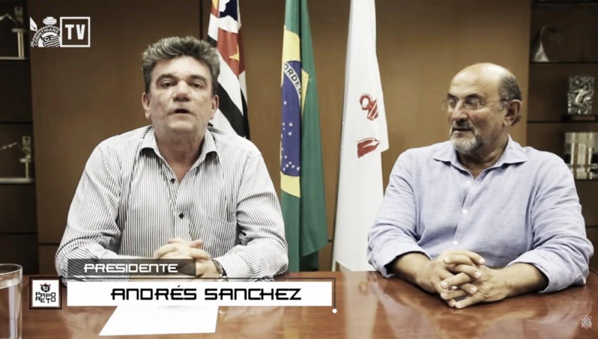 Papo reto: Andrés Sanchez estreia programa no YouTube e esclarece pautas sobre futuro do Corinthians