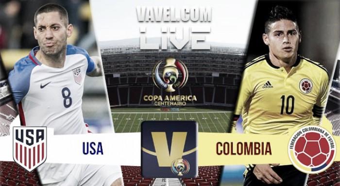 Resultado Estados Unidos x Colômbia na Copa América Centenário (0-2)