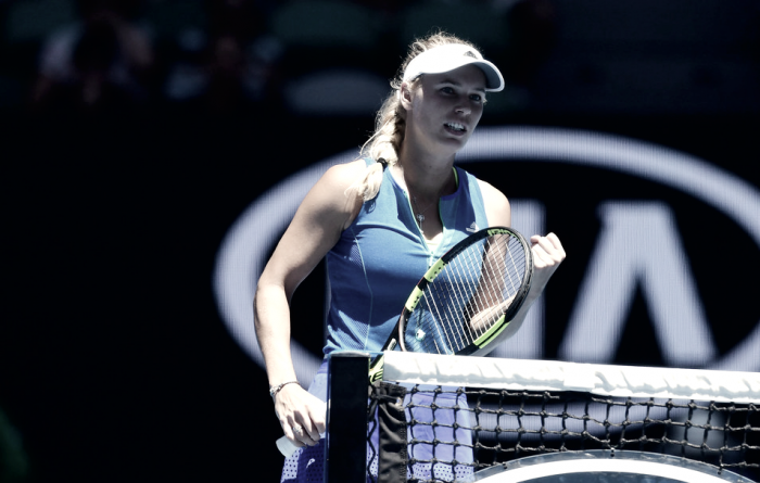 Australian Open: Caroline Wozniacki powers past Donna Vekic