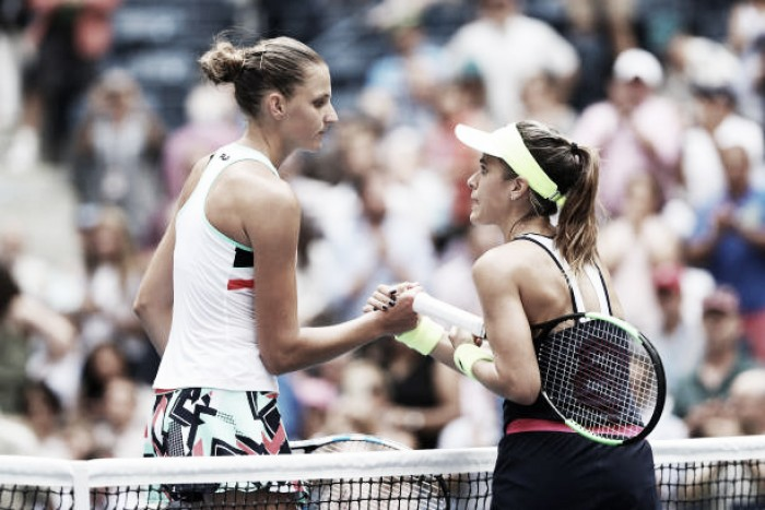 Uneven Pliskova Battles Back to Advance to 4th Round Against Brady