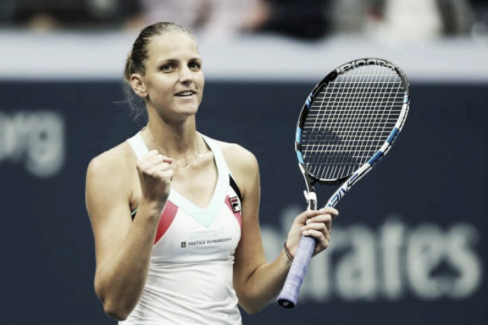 US Open: Karolina Pliskova comfortably beats Magda Linette