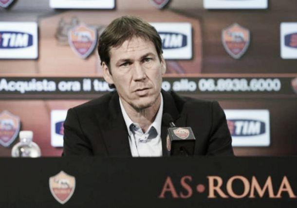 """Roma-Lazio, Garcia: """"Vogliamo essere primi in classifica al fischio finale"""""""