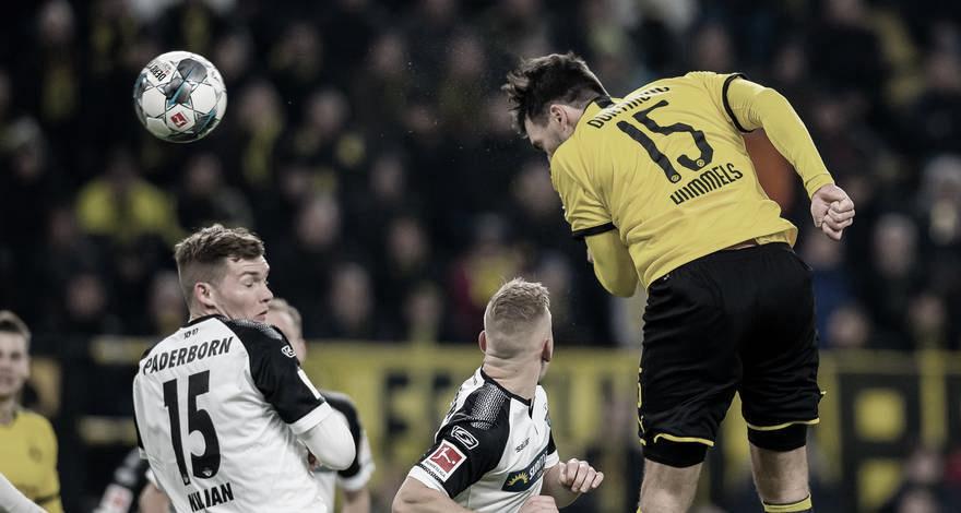 Opostos na tabela, ameaçado Paderborn mede forças contra vice-líder Borussia Dortmund