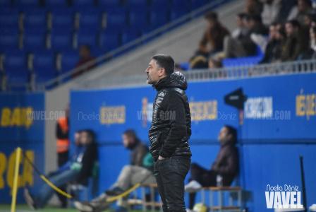 García Pimienta, en un partido de la temporada pasada. Foto: Noelia Déniz.