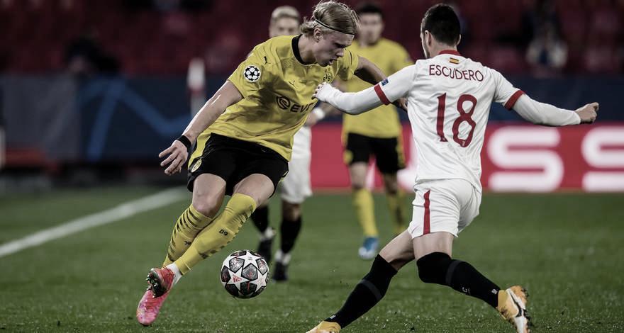 Com vantagem, Borussia Dortmund recebe Sevilla em busca de manutenção na Champions League