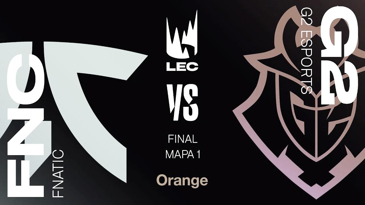 "Final de la LEC 2020, ""split2 de primavera, G2 vs FNATIC. Fuente: LVPesLOL"