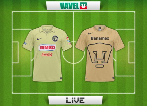 Resultado America - Pumas en Liga MX 2014 (0-1)