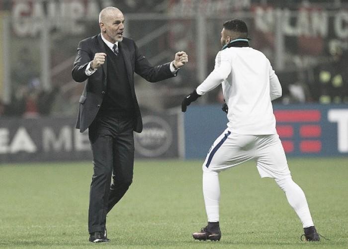 Celebração de Gabigol após empate da Inter contra Milan empolga técnico Pioli