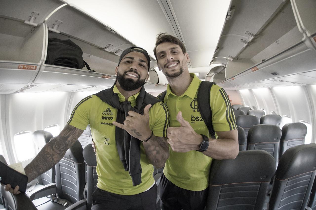 Flamengo prepara força-tarefa para ter Gabigol e Rodrigo Caio diante do Fortaleza