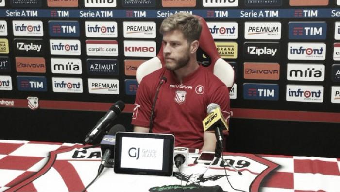 """Carpi, Gagliolo: """"Contro il Chievo vogliamo rifarci, siamo delusi dopo la gara con il Sassuolo"""""""