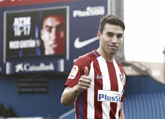 Recém-contratados, meia Gaitán e lateral Vrsaljko são apresentados no Atlético de Madrid