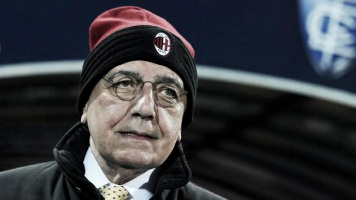 """Milan, Galliani è ottimista: """"Possiamo agganciare la zona Champions"""""""