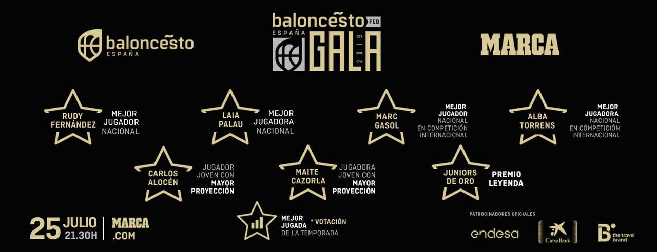 Madrid acoge la primera gala del baloncesto español