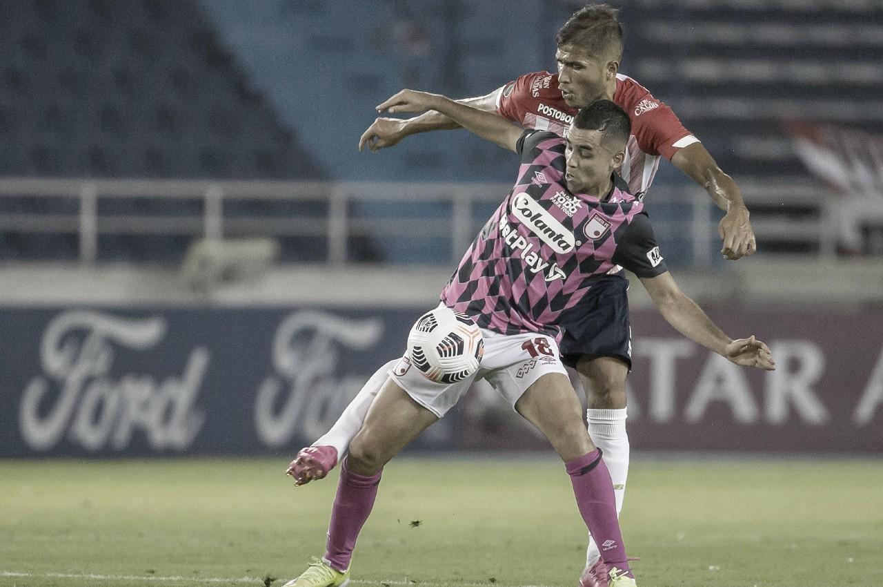 Daniel Giraldo, lo mejor de la derrota de Santa Fe frente a Fluminense