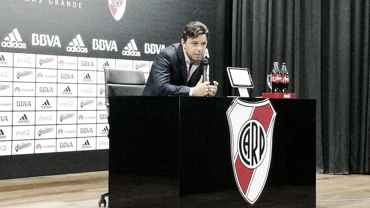 """Gallardo: """"No puedo hacer un análisis futbolístico del partido de hoy"""""""