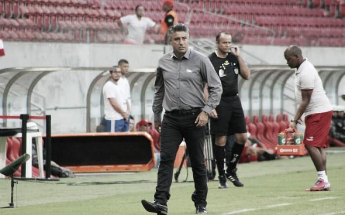 """Gallo reconhece superioridade do CRB e aponta lesões para justificar derrota: """"Nada deu certo"""""""