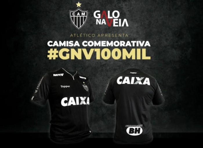 Para celebrar marca de 100 mil sócios, Atlético-MG lança camisa comemorativa