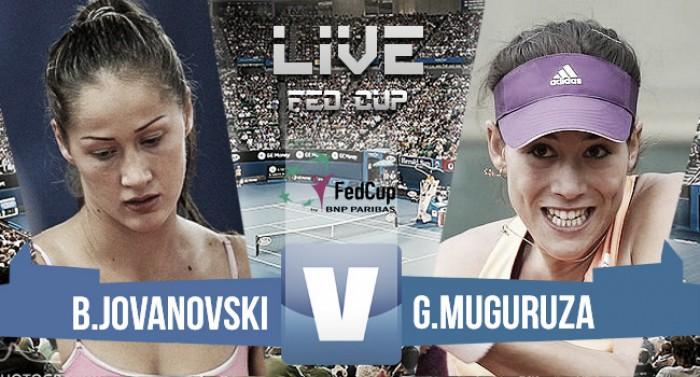 Resultado Garbiñe Muguruza vs Ivana Jorovic en Copa Federación 2016 (2-0)