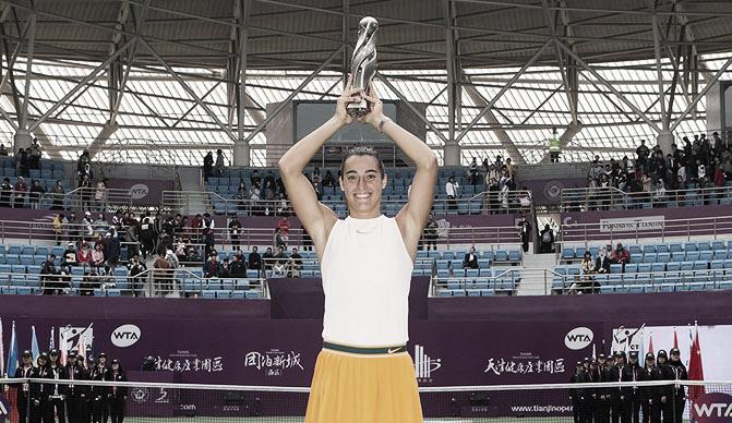 Garcia vence Pliskova em Tianjin e conquista primeiro título no ano