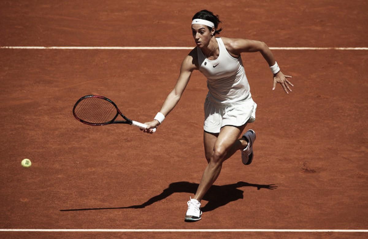 WTA Madrid: Caroline Garcia overcomes huge scare to defeat Dominika Cibulkova