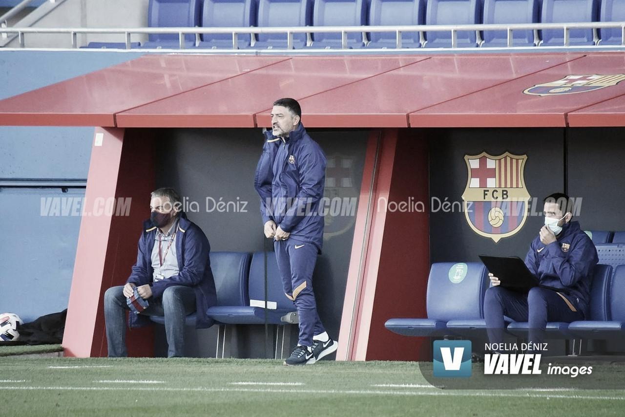García Pimienta en el Johan Cruyff esta temporada. Foto: Noelia Déniz, VAVEL