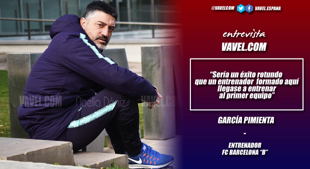 """Entrevista a García Pimienta: """"Sería un éxito rotundo que un entrenador formado aquí llegase a entrenar al primer equipo"""""""