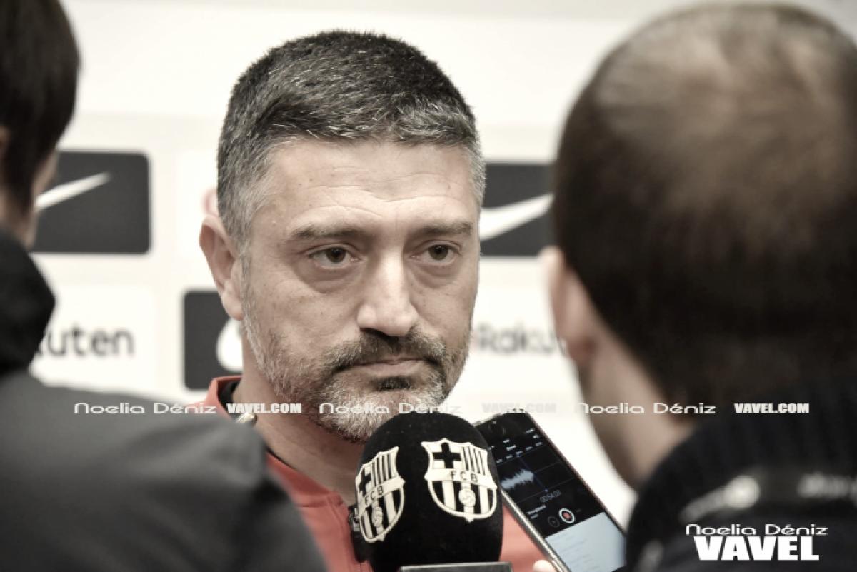 """García Pimienta: """"Es el día en que menos ADN Barça se ha visto"""""""
