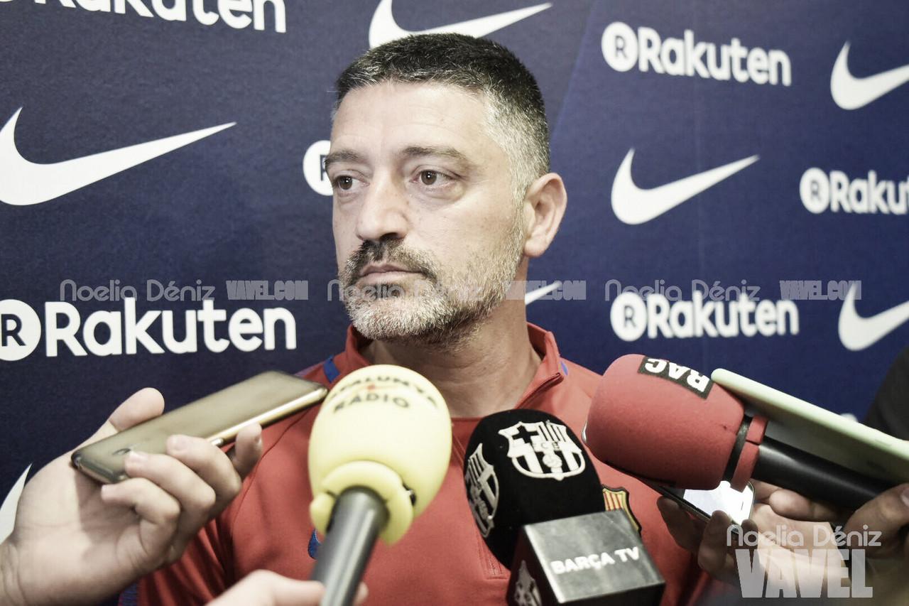 """García Pimienta: """"Será un partido complicado, parecido al de la primera vuelta"""""""
