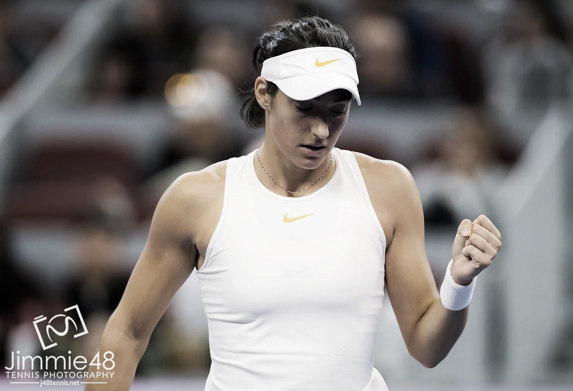WTA Beijing: Caroline Garcia survives marathon encounter against wildcard Wang Yafan