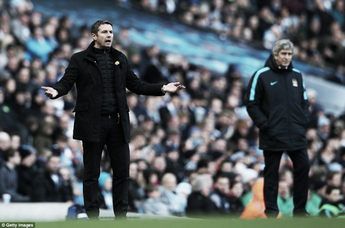 Aston Villa boss Remi Garde left frustrated by 'collapse' in second half against Manchester City