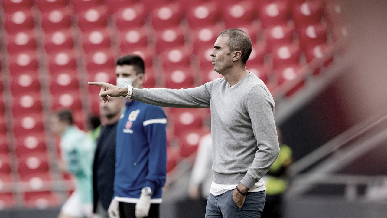 Garitano dando instrucciones // Foto: Athletic Club