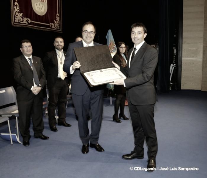 Garitano nombrado hijo adoptivo de Leganés