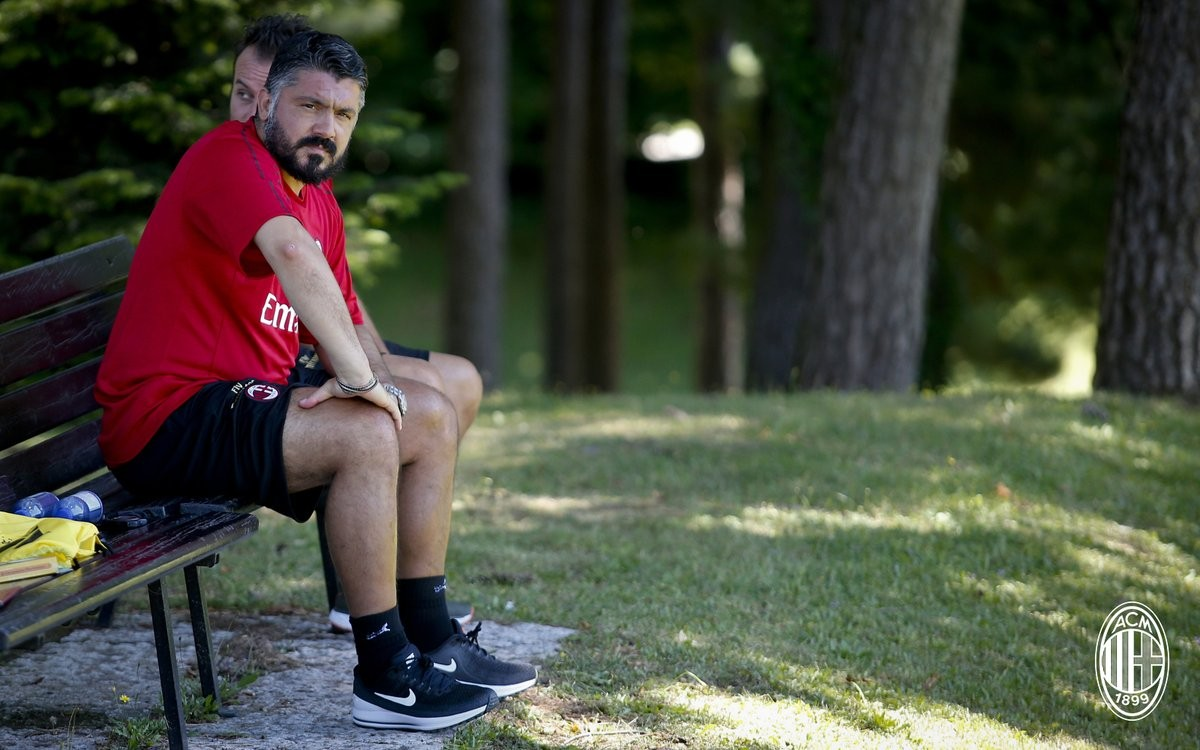 La conferenza stampa di Gattuso nel primo giorno del Milan 2018/2019